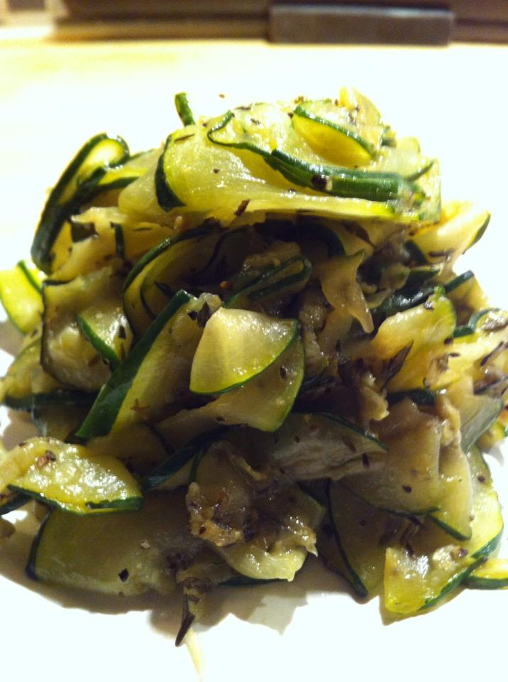 Fried Zucchihi with thyme