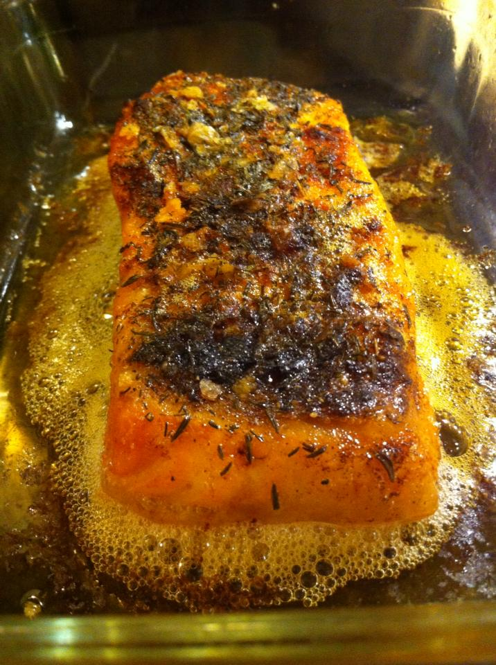 Salmon with smoked paprika and thyme