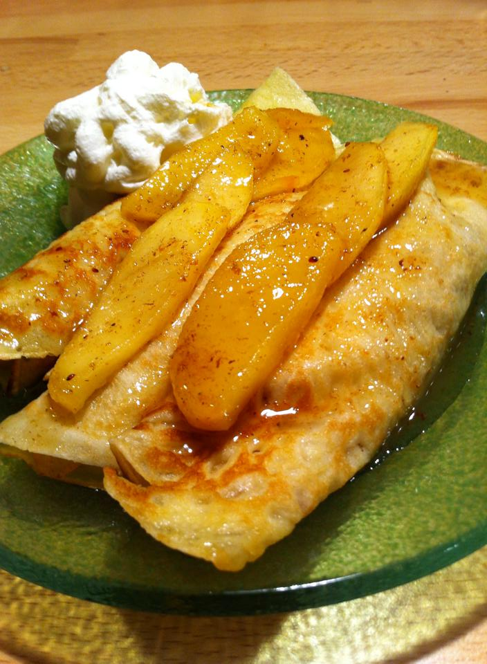 Long peppar apple crepés