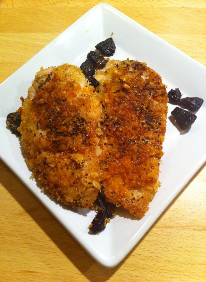 Chicken Piccata with Black Garlic and Long Pepper .