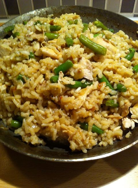 Wild pepper Risotto with Turkey