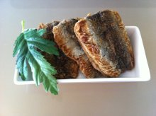 Fried pickled herring