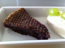 Chocolate mud cake with avocado